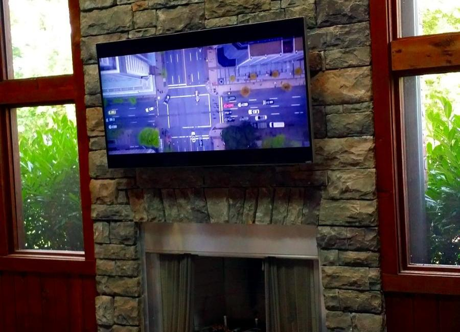 TV Mounted Over Fireplace Mount Juliet, TN